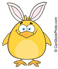 Easter Chick With Bunny Ears
