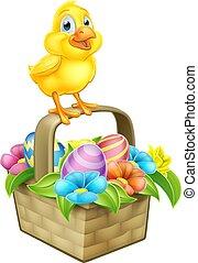 Easter Chicken Chick Egg Basket