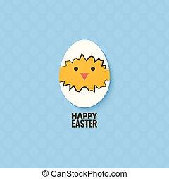 easter chicken egg concept background 10 eps
