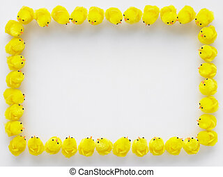 Easter Chicks Standing In A Square