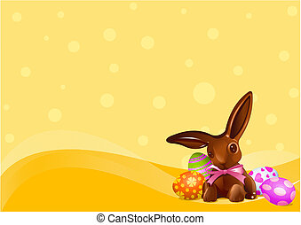 Easter Chocolate bunny background