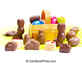Easter chocolate, easter bunnies