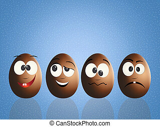 Easter chocolate eggs - illustration of Easter chocolate...