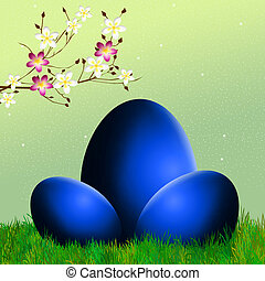 Easter chocolate eggs - illustration of Easter eggs