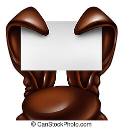 Easter Chocolate Rabbit Sign