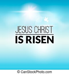 Easter christian celebration Jesus Christ is risen vector background