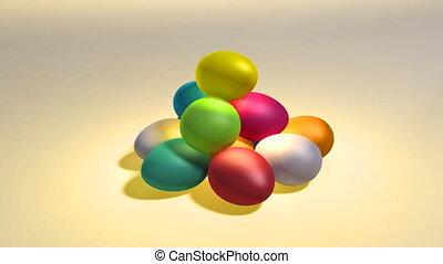 easter color egg hill
