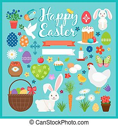 Easter colored icons