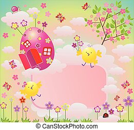 Easter colorful card