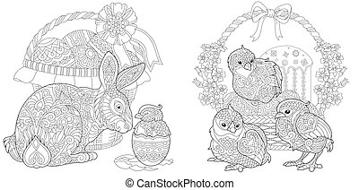 Easter coloring collection
