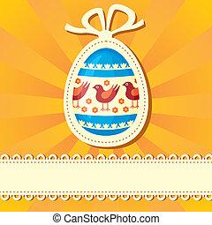 Easter congratulatory background