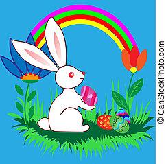 Easter cute cartoon Bunny