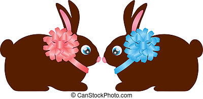Easter Day Chocolate Bunny Rabbit