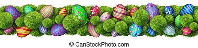 Easter Decoration Horizontal Border