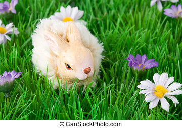 Easter decoration with bunny