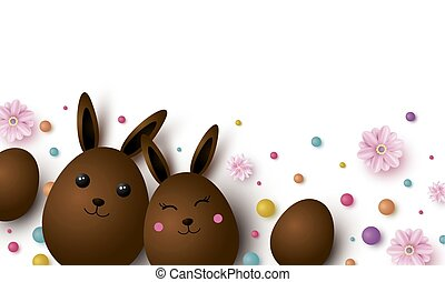 Easter design with copy space vector illustration