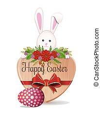 Easter design with Easter Bunny and Easter egg