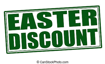 Easter discount stamp