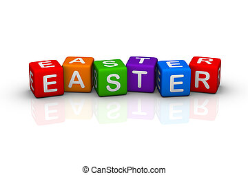 easter (buzzword colorful cubes series)