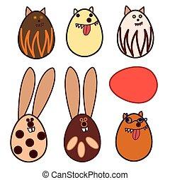 Easter egg animal