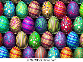 Easter Egg Background - Easter egg background holiday eggs...