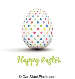 Easter egg background - Easter background with spotted egg