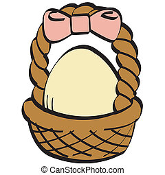 Easter egg basket clip art