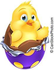 Easter Egg Chick Little Baby Chicken Bird Cartoon