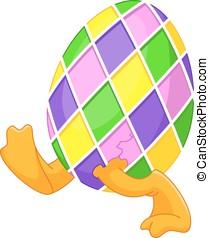 Easter Egg - Chick runs in Easter egg