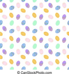 Easter Egg Colorful Seamless Pattern