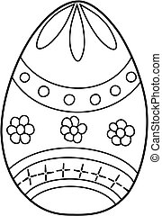 Easter egg. Coloring book for kids. Hand drawn.