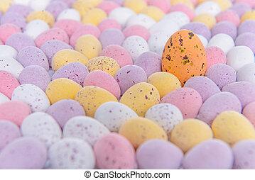 Easter egg crowd scene
