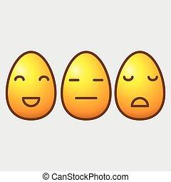 Easter egg emoticons