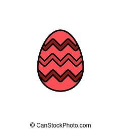 Easter egg. Filled color icon. Celebration vector ...