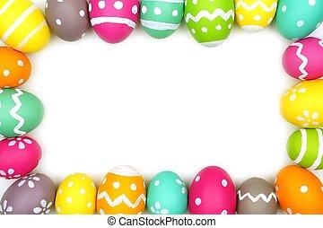 Easter Egg frame on white