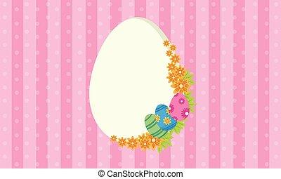 Easter egg frame vector illustration