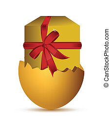 Easter egg gift boxes closed and opened to be filled nine eps easter egg gift negle Image collections