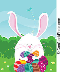 Easter Egg Hunt - Bunny is hunting eggs