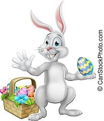 Easter Egg Hunt Bunny Rabbit Cartoon