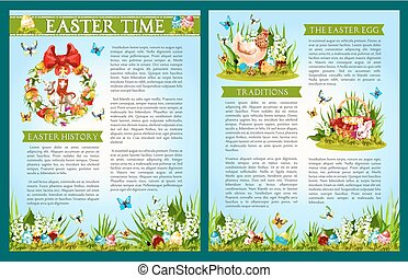 Easter Egg Hunt celebration brochure template