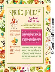 Easter Egg Hunt celebration poster template design