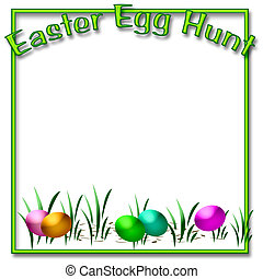 Easter egg hunt - dyed Easter eggs in the grass scrapbook...
