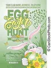 Easter Egg Hunt Flyer Template - Easter Egg Hunt Invitation...