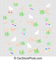 easter egg hunt poster with bunny and eggs