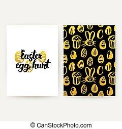 Easter Egg Hunt Trendy Posters