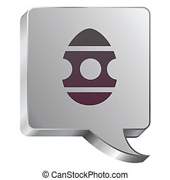 Easter egg icon on steel bubble