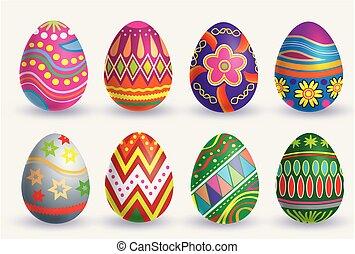 Easter egg icon set
