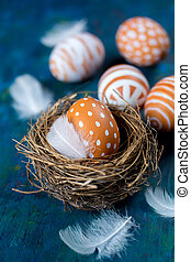 Easter egg in a nest