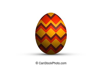 easter egg in geometric style