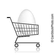 Easter egg  in shopping cart for your design